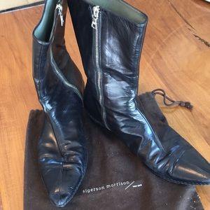 Sigerson Morrison Black leather inside zip boots